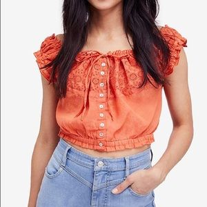 NWOT Free People Eyelet you a lot size M&L